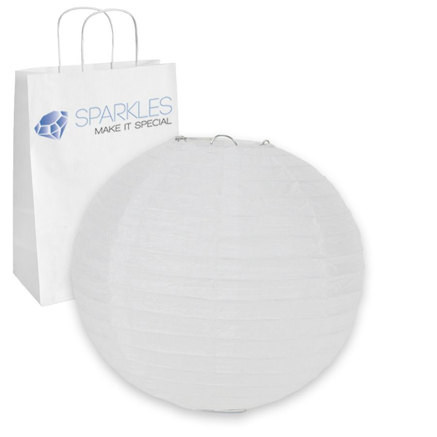 """Wedding Party Event Decoratio ds White 12 pcs 8/"""" inch Chinese Paper Lantern"""