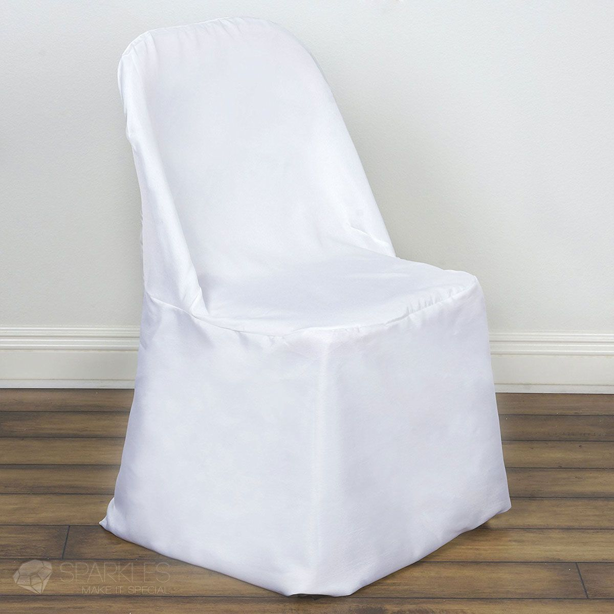 Sparkles Make It Special 1 Pc Polyester Folding Chair Covers Wedding Reception Banquet Party Restaurant Universal Fitted White Sparklesmakeitspecial Com
