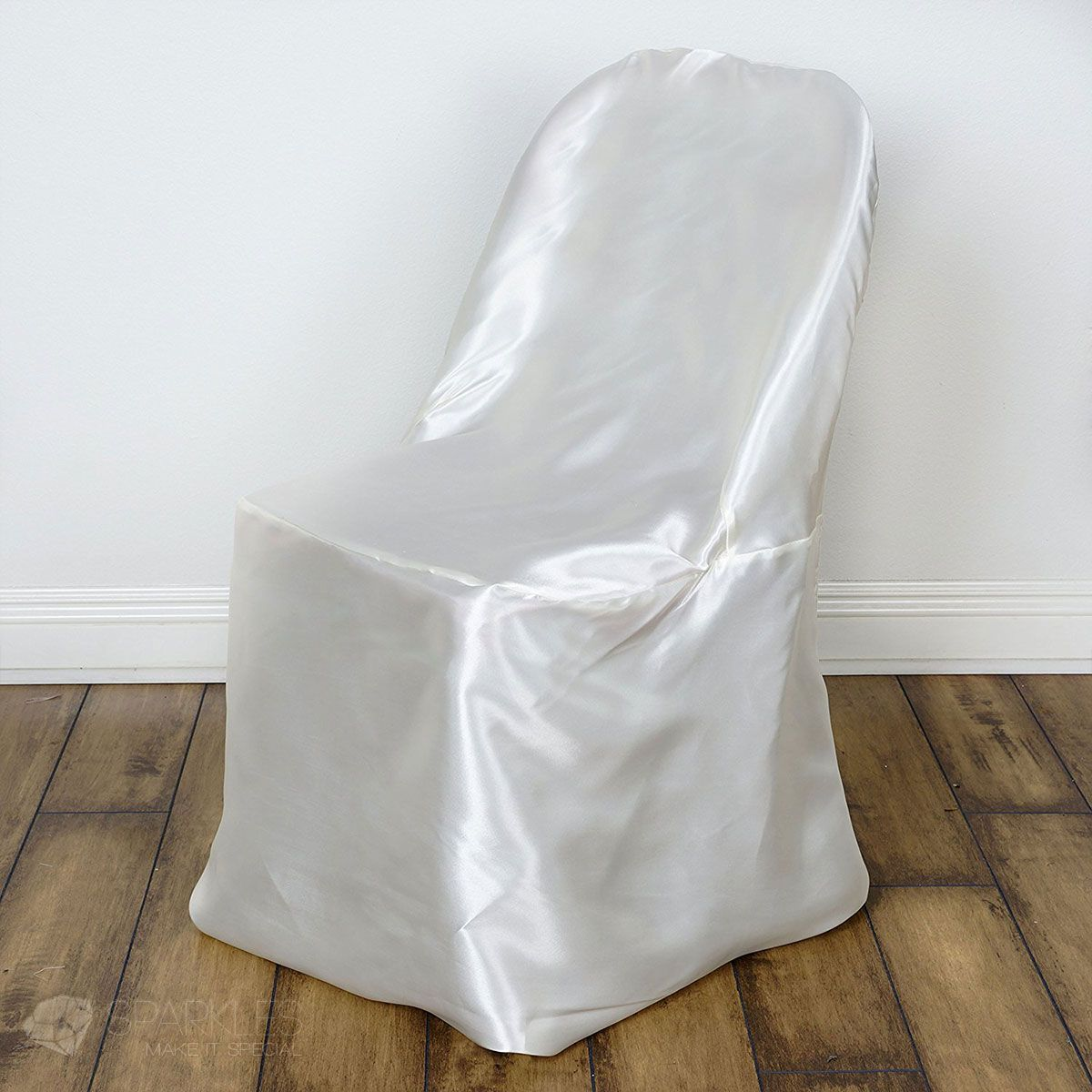 Sparkles Make It Special 10 Pc Satin Folding Chair Covers Wedding Reception Banquet Party Restaurant Universal Fitted Ivory Sparklesmakeitspecial Com
