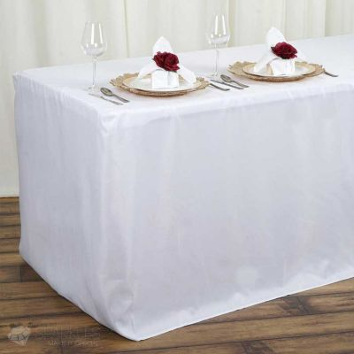 4 ft Rectangular Fitted Tablecloth