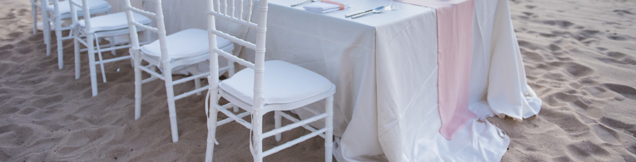 A Tablecloth Hang Over The Table