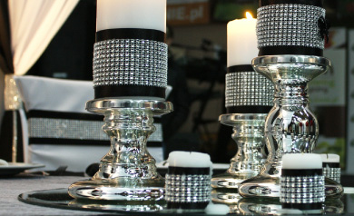 add bling to your wedding