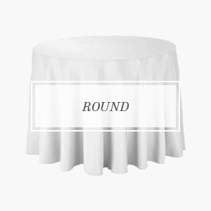 shop polyester round tablecloths